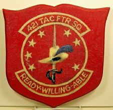 Usaf 421st Tactical Fighter Squadron Emblem Crest Insignia Painted Plaque