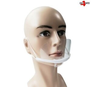 UK Face Mouth + Nose Protective Shield Visor Reusable Premium