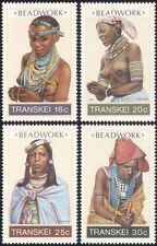 Transkei 1987 Beadwork/Traditional Dress/Costumes/Tribal Art/Naked 4v set b1330a