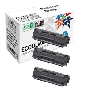 3 pack Q2612A Toner Cartridge fits HP 1022 1020 1012 1018 3055 n nw Printer