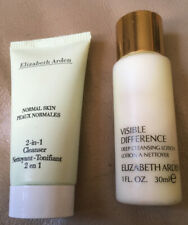 2 Elizabeth Arden Cleansers. 1 Visible Difference Lotion. 1 2-in-1 Cleanser. New