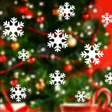 39X Christmas Snowflake Wall Sticker Home Decoration Sticker for Window Glass UK