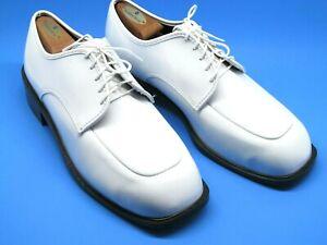 Gateway Mens White Patent Leather Apron Toe Dress Lace Up Oxfords Size US 14 M