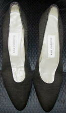 Vintage Liz Claiborne Women's Size 7.5 M Black Fabric Heels Pumps Shoes