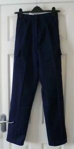 BNWT Haywood TL45 Work Nurses Carer Cargo Trousers in Navy Blue Size 8 x 32L
