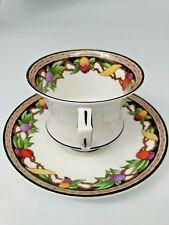 Antique Paragon Cup & Saucer Set Rare Star mark - Fruit Rim #7405 (1920's)