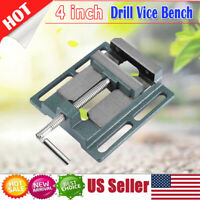 4'' Heavy Duty Drill Press Vice Bench Clamp Woodworking Vise Drilling Machine US