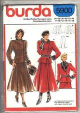 Burda Sewing Pattern Women's JACKET & SKIRT 5900 Sz 8-10-12-14-16-18 UNCUT
