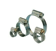 30 Assorted Hose Clips. Fuel, Water, Zinc New Various Sizes 8-25mm.
