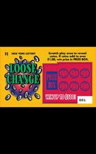 Fake Play NY Lottery Scratch Off Tickets Loose Change Gag Gift for Fun
