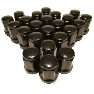 "Set of 23 Black 1/2"" Lug Nuts Acorn Bulge Closed End Lugnuts 1/2x20 Ford Jeep"