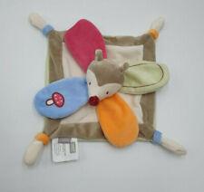 Doudou Plat renard marron rouge orange Sweet Forest bébé 9 bébé9 champignon NEUF