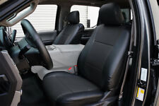 FORD F-150 2015-2018 BLACK S.LEATHER CUSTOM MADE FIT FRONT SEAT COVER