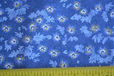 By 1/2 Yd, Calico on Navy Quilting, Clothworks/Paisley Denim/Y0901-31 B896