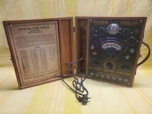 Antique Vintage Supreme Model 85-P Tube Tester - Untested