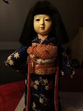 Ichimatsu Ningyou Puppe Japanisches Kimonomädchen 40 cm