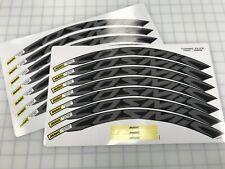 Cosmic Elite 30mm+ Wheel Decals/Stickers Set of 12 decals Titanium Gray