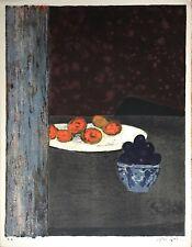 Génis René Lithographie signée peintre réalité poétique nature morte Genis