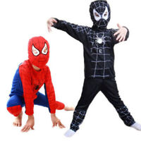 Spiderman Costume Superhero Cosplay Fancy Dress Halloween Party For Kids Boys