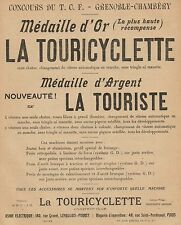 Y9553 La TOURICYCLETTE - Médaille d'Or - Pubblicità d'epoca - 1905 Old advert