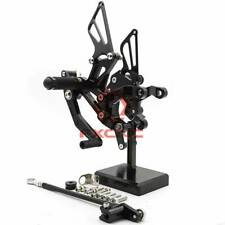 FXCNC CNC Front Rearsets Footpegs Footrests For KAWASAKI Z900 2017-2019 Black