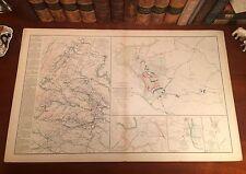 Original Antique Civil War Map Robert E. Lee RICHMOND to APPOMATTOX April 9,1865