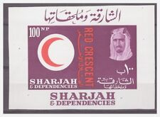 0361 Sharjah 1963 Red Crescent Medical S/S Mnh imperf