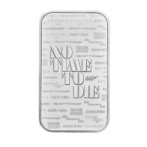 James Bond 1 oz Silver Bar Minted - Sold Out at Royal Mint