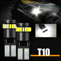 2x T10 194 501 3014 W5W SMD 24 LED Car CANBUS Error Free Wedge Light Bulb White