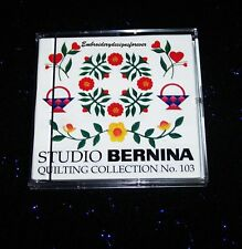 Bernina Machine Embroidery Design  Card  #103 Quilting for Brother Babylock