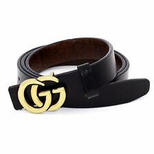 GGenuine Leather Thin Belts Fashion Womens Gucci Logo Pattern For Jeans 0.9 US