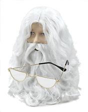 Santa Claus Papá Noel Peluca, Barba, bigote, Half Moon Disfraz de gafas