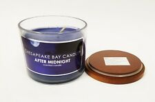 NEW CHESAPEAKE BAY AFTER MIDNIGHT BLUE SCENTED CANDLE FILLED GLASS JAR  9.5 OZ.