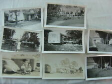Lot of 8 Vintage Photos Travel Trailers Cars 813008