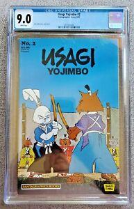 Usagi Yojimbo #2 CGC graded 9.0 VF/NM Sep 1987 Samurai Rabbit Stan Sakai art