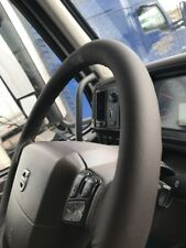 FOR DAF TRUCK CF85 2006-2012 TRUE BROWN LEATHER STEERING WHEEL COVER