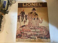 ORIGINAL LIONEL TRAINS RAILROAD ACCESSARIES CATALOG, 1960.  ORIGINAL.