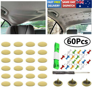 60X Roof Lining Liner Repair Kit Fix Sagging Headliner Pin Buckle Beige