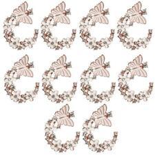 10 3cm Enamel Butterfly&FLOWER Button Crystal Flatback Wedding DIY Bow Craft