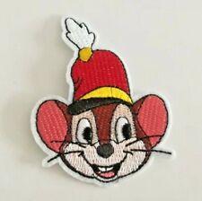1 Écusson Brodé Thermocollant NEUF ( Patch ) - Souris Timothée Dumbo Disney