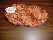 Rayon Chenille Yarn 520 Ypp 1 Skein, 4 oz.130 Yards Color Pumpkin