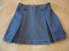 Ladies size 8 Papaya blue denim pleated short skirt