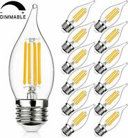 Dimmable LED Candelabra Bulb 2700K Warm White 450LM, 4.5W Ca11-e26 Base-12 Pack