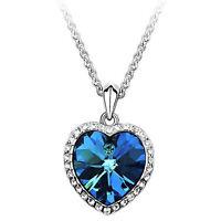 Coeur de l'océan pendentif collier femmes en cristal  B_fr