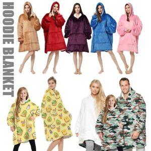 FIL Oversized Hoodie Blanket Oodie Plush Warm Big Fleece Soft Winter Pullover