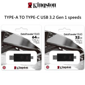 Type-C USB Kingston Datatraveler Duo USB 3.2 Type-C to Type-A Flash Drive