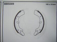 Mazda 121 1.3 16v rear brake shoes (mbs569) (91 - 96)