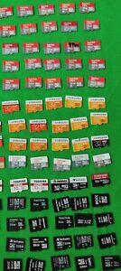70 Stk x 32 GB Micro SD Karte Speicherkarte Sandisk Samsung Toshiba/Nr.2