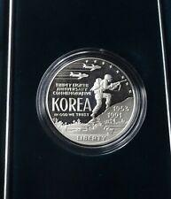 1991 Korean War Memorial Proof Silver Dollar - OGP & COA
