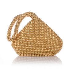 Fashion Alumium Sequins Women Evening Clutch Bag Party Wedding Purse Handbag US